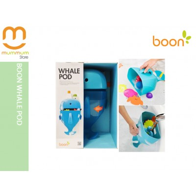 BOON Whale Pod Bath Toy Scoop, Drain and Storage
