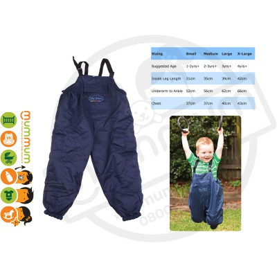 Silly Billyz Waterproof Fleece Lined Overalls Navy