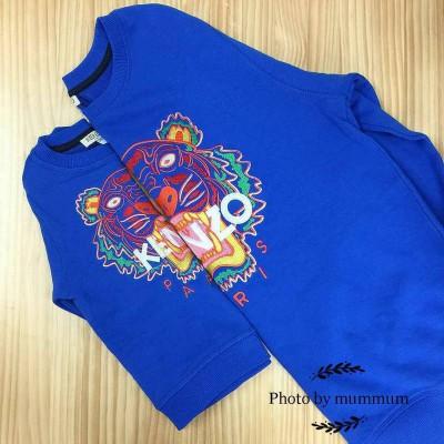 Kenzo Tiger Sweater Vivid Blue Theme Non Defini 14A Adult Size 8, 155, S