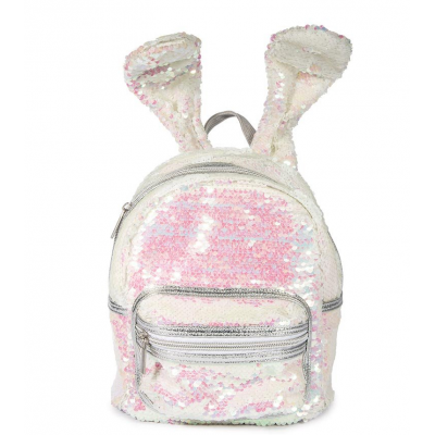 Bunny Ear Backpack Sequin Sparkling and Coloring Changing