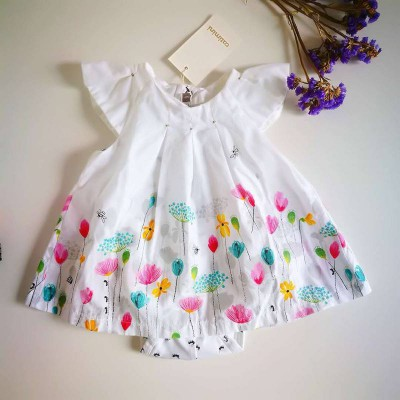 catimini dress white 3-12m