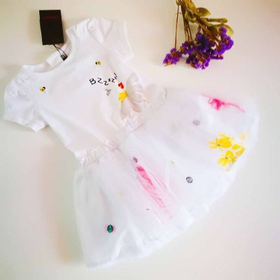 catimini dress white with bz 2A