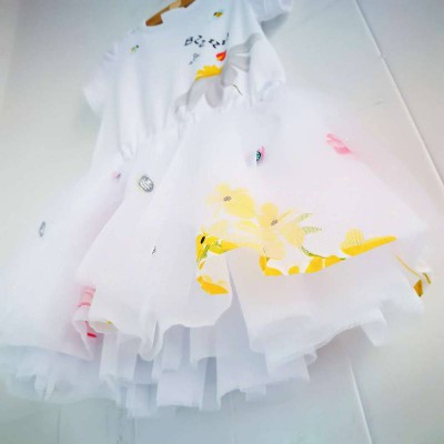 catimini dress white with bz 3A