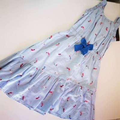 catimini dress blue grey 4A,5A,6A, 8A,14A,16A