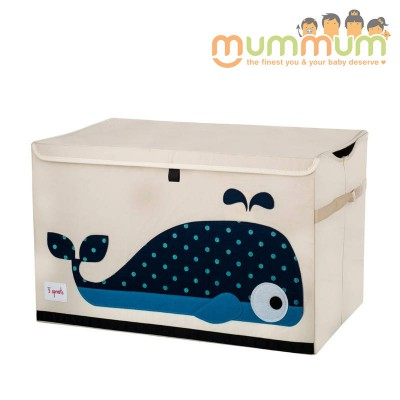3 Sprouts Toy Chest Whale 61x37x38cm