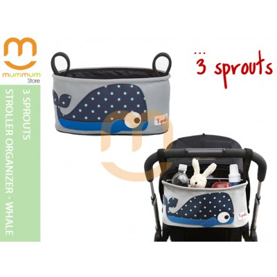3 Sprouts Stroller Organizer Blue Whale