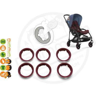 Bugaboo Bee5 Bee 5 Wheel Caps Red