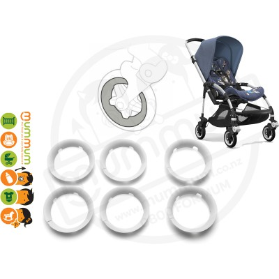 Bugaboo Bee5 Bee 5 Wheel Caps White