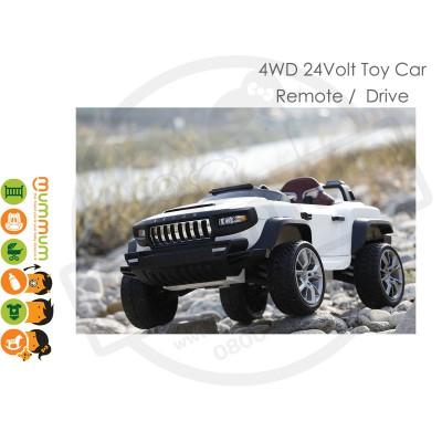 HENES T870 TOP GEAR KIDS CAR 4WD REMOTE 24V - White