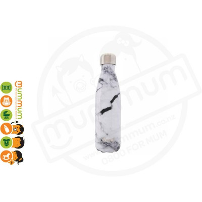 Swell Insulated Bottle Element Collection 500ml White Marble