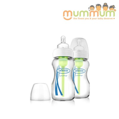 Dr.Brown Glass Wide Neck Bottle with Reduce Colic Venting 270ml