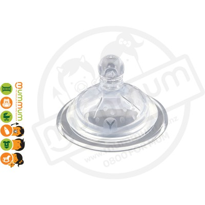 Haakaa Wide Neck Silicon Anti-Colic Nipple Y 2pcs