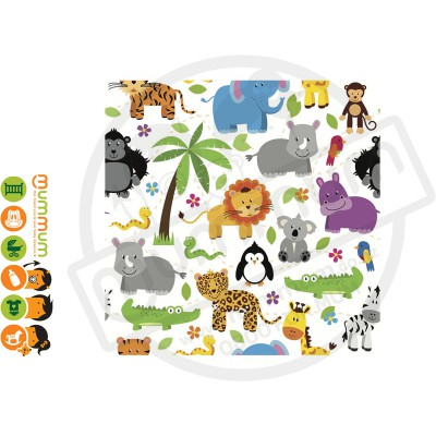 Little Shades Stick On Decals - Wildlife Friends
