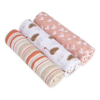 Aden and Anais Muslin Wrap flock together 3pk White label Botique exclusive