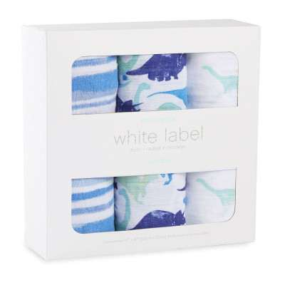 Aden and Anais Muslin Wrap Jurassic 3pk White Label Botique Exclusive