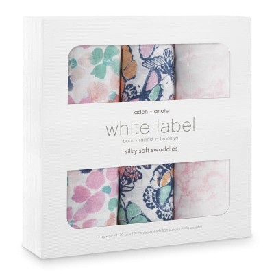 Aden and Anais Muslin Wrap Festival Silk 3pk White Label Botique Exclusive