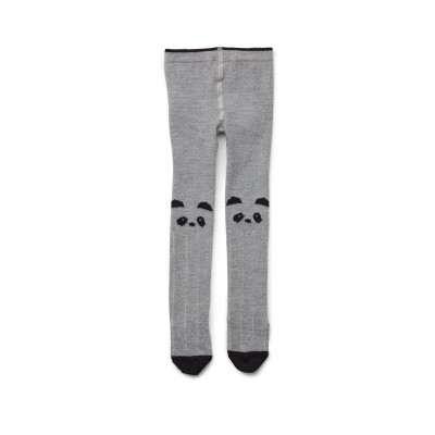 Liewood Silje Cotton Stocking Tights Panda Grey Me 0-6m, 1y, 2y, 3y, 4-6y