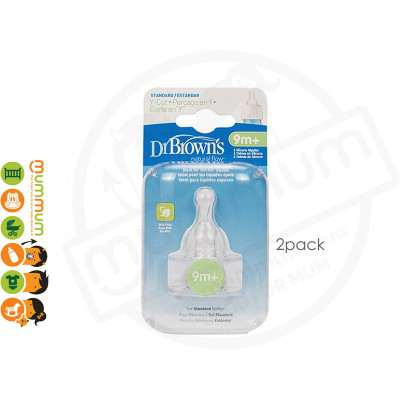 Dr.Brown Teats Y Cut Teats (2pcs) Glass Bottle Standard Bottle