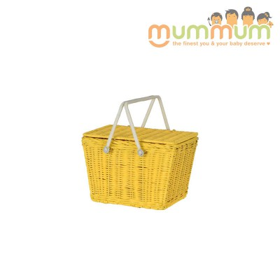Olli Ella Kids Piki Picnic Basket Yellow@ETA 28th April