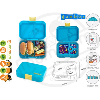 Yumbox 4 Panino Kai Blue Best Lunch Box Non Spill