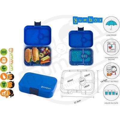 Yumbox 4 Panino Neptune Blue Best Lunch Box Non Spill