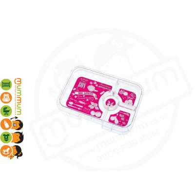 Yumbox 4 compartment Tapas Interchangeable Tray - Hot Pink