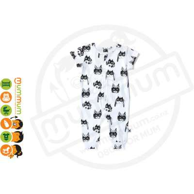 Minti Zippy Suit Animal Heroes White