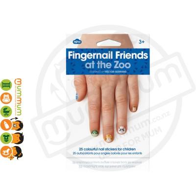 Npw Fingernail Friends Zoo Nail Stickers / Accessories