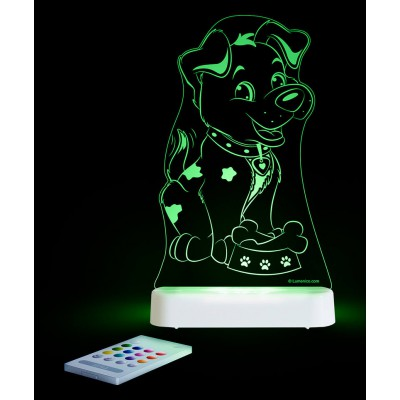 Aloka Night Light Puppy Multi Colour With Remote Control